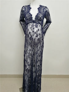 Maternity Photography Prop Maxi Lace Nightgown Dress