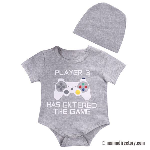 Gamers Baby Bodysuits Jumpsuit One piece baby vest unisex