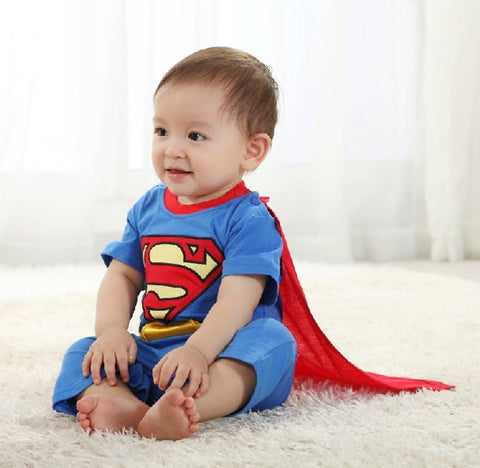 Baby Boy Romper Superman - Long or Short Sleeve