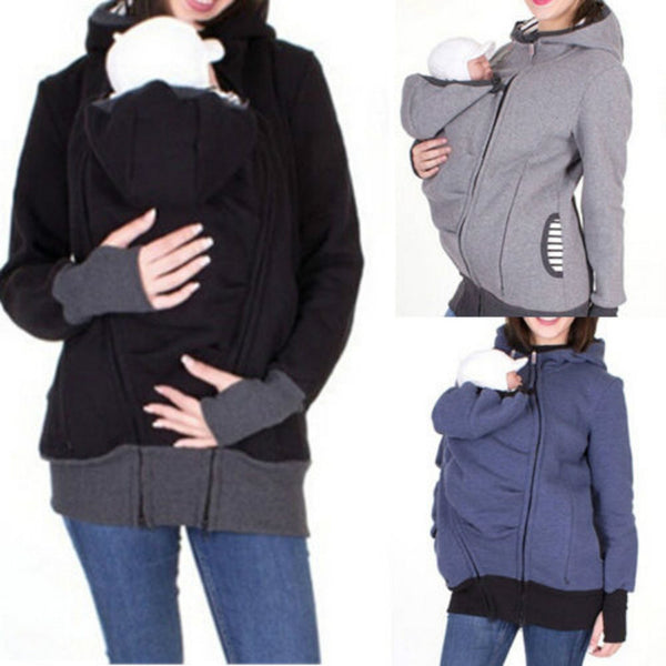 Baby Carrier Jacket Kangaroo Winter Maternity Coat