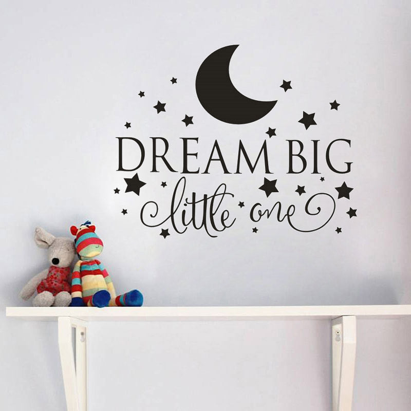 Dream Big Little One Quotes Wall Decal, Nursery Wall Sticker ...