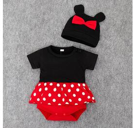 Boy or Girl Mouse Matching Romper & Hat Outfit Costume
