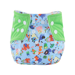 Printed Baby Washable Reusable Cloth Diaper Nappy
