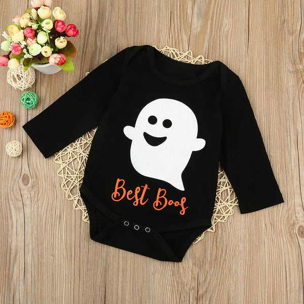 """Best Boos"" Long Sleeve Romper Oneseie"