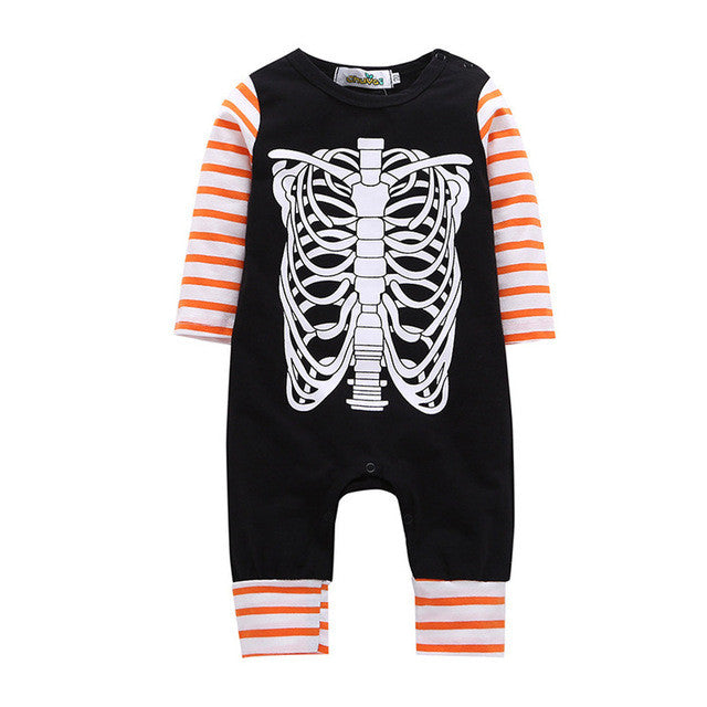 Newborn Baby Boys Girls Romper Fashion Happy Stripe Romper Jumpsuit Outfits Clothes
