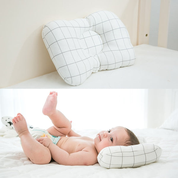Patterned Newborn Head Protection Cushion Anti-Roll Positioner Sleep Pillow