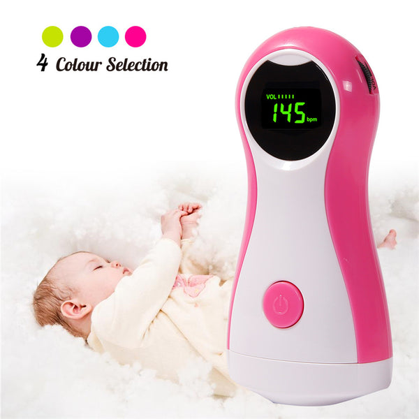 Fetal Doppler Baby Monitor LCD Display Portable Baby Heart Rate Monitor With Earphones