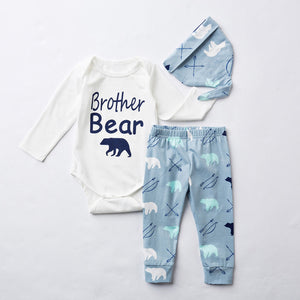 Baby Boy Themed Gift Set Romper + Pant + Hat Set