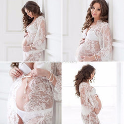 Lace Maternity & Pregnancy Dress Robe for Photography