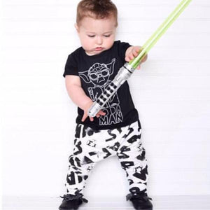 'Yoda Man' 2pcs Short Sleeve Shirt & Pants Set