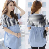 Striped Maternity/Pregnancy/Nursing Blouse