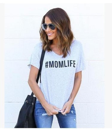 #MomLife Short Sleeve T-Shirt for Women
