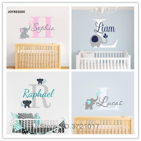 Custom Personalized Name Color Wall Decals For Kid Nursery Decoration