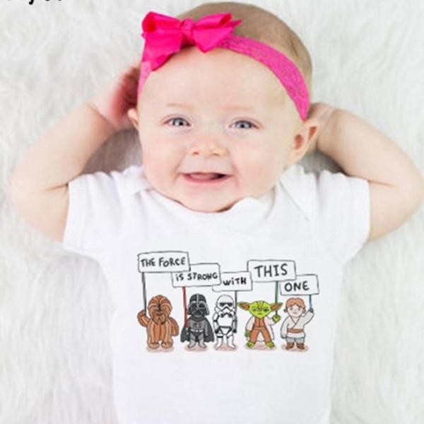 'The Force is Strong With This One' Short Sleeve Romper Onesie