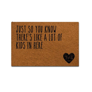 """Just So You Know"" with Heart Welcome Mat (Various Sizes)"