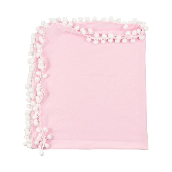 Newborn Baby Pom Pom Blanket Sleeping Blanket Swaddle Wrap