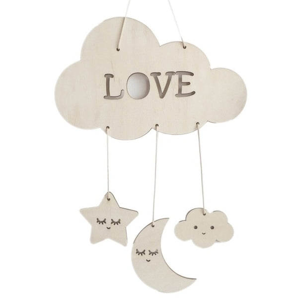 Stars, Moon & Clouds Dream Catcher for Nursery or Kids Room