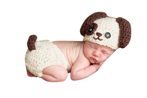 Baby Dog Handmade Crochet Newborn Baby Costume for Photography
