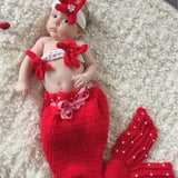 Mermaid Handmade Crochet Newborn Baby Costume for Photography
