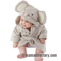 Baby Cotton Hooded Bath Towel Wrap Bathrobe Cute Cartoon Mouse/Panda/Bunny 1-5Y