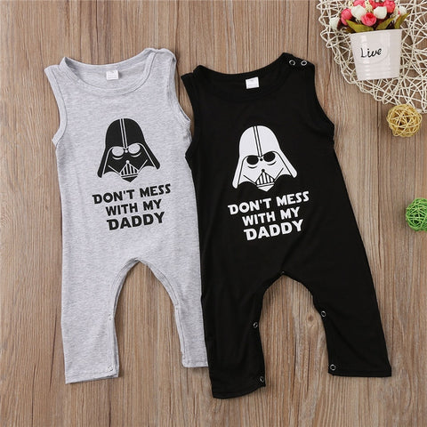 'Don't Mess With My Daddy' Sleeveless Jumpsuit Onesie