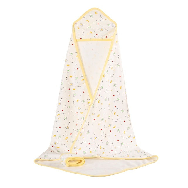 Baby Printed Cotton Hooded Blanket Towel Wrap
