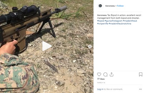 Tactical Bipod Instagram Snapshot - Recoil