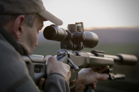 Monomount scope mount on blaser rifle
