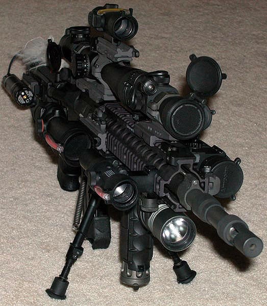 ar15 with way too much crap on it
