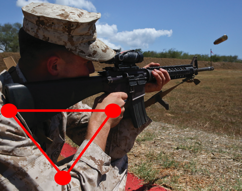 marine with AR and sling position