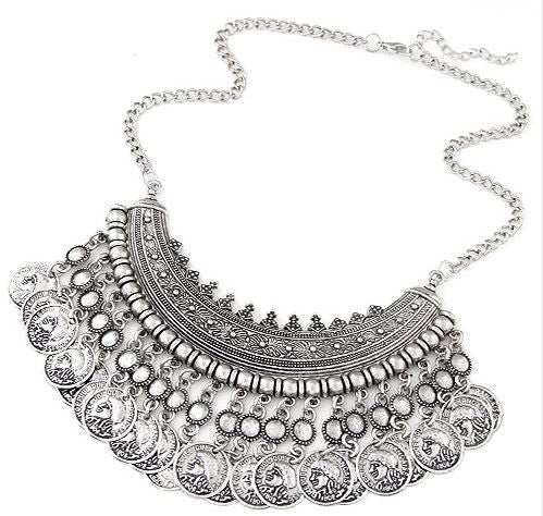 "Collier ""coins"" gypsy"