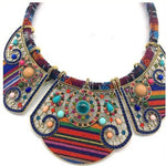 Collier ethnique multicolor
