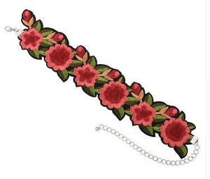"Collier tatoo ""rose"""