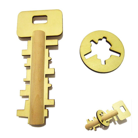 Kids Wooden Key Lock Puzzle