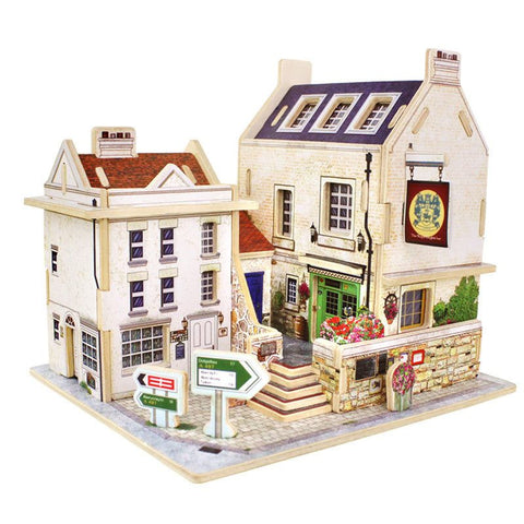 British Pub Wooden Puzzle