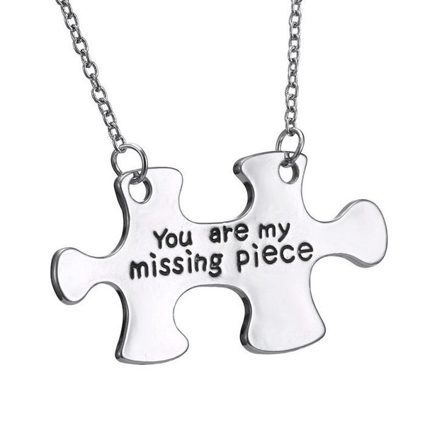 Silver 'Missing Piece' Puzzle Pendant