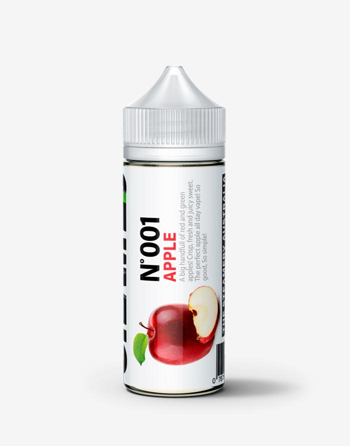No 001 - Apple - Steam E-Juice | The Steamery