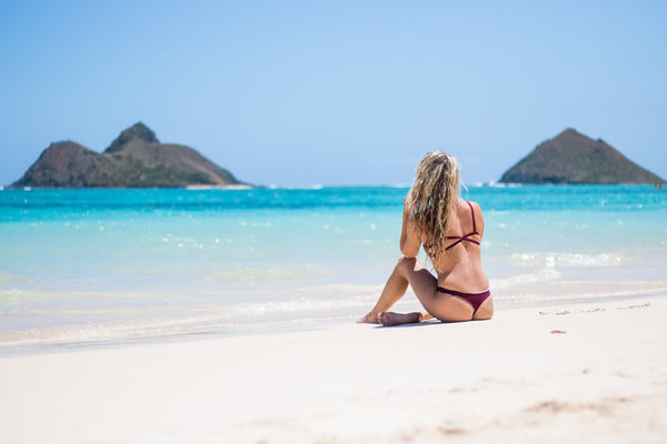 Sundaze Bikinis at Lanikai Beach Hawaii