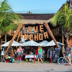 Shop local goods from a farmers market in Canggu Bali