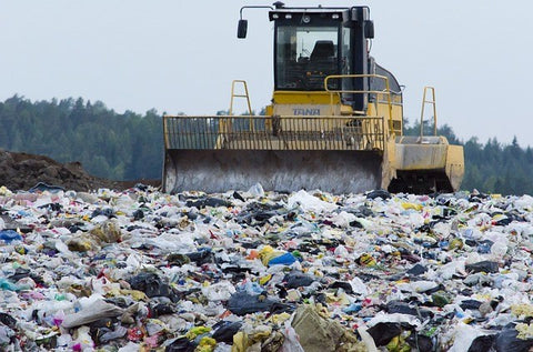 Fast Fashion Pollution in a landfill