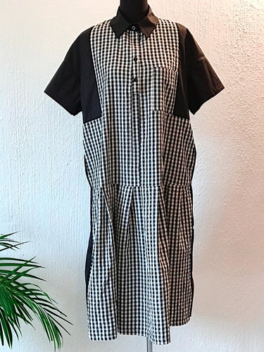 Cotton Check Dress