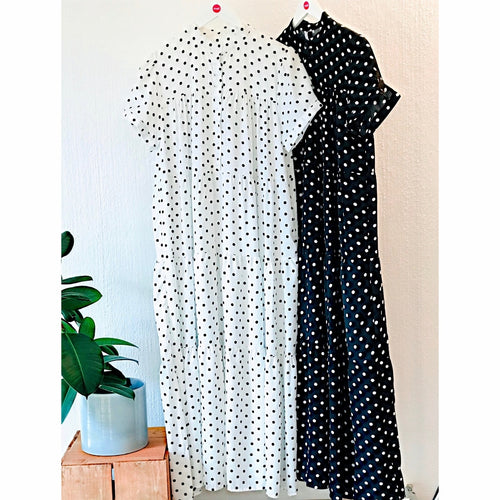 Polka Dot Maxi Tiered Dress