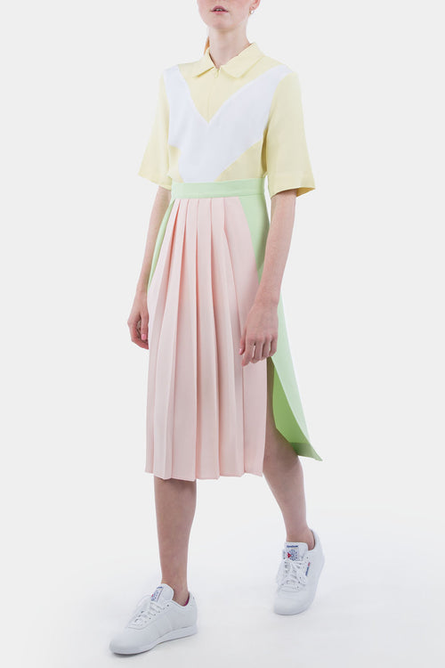Band Plisse Skirt Crepe