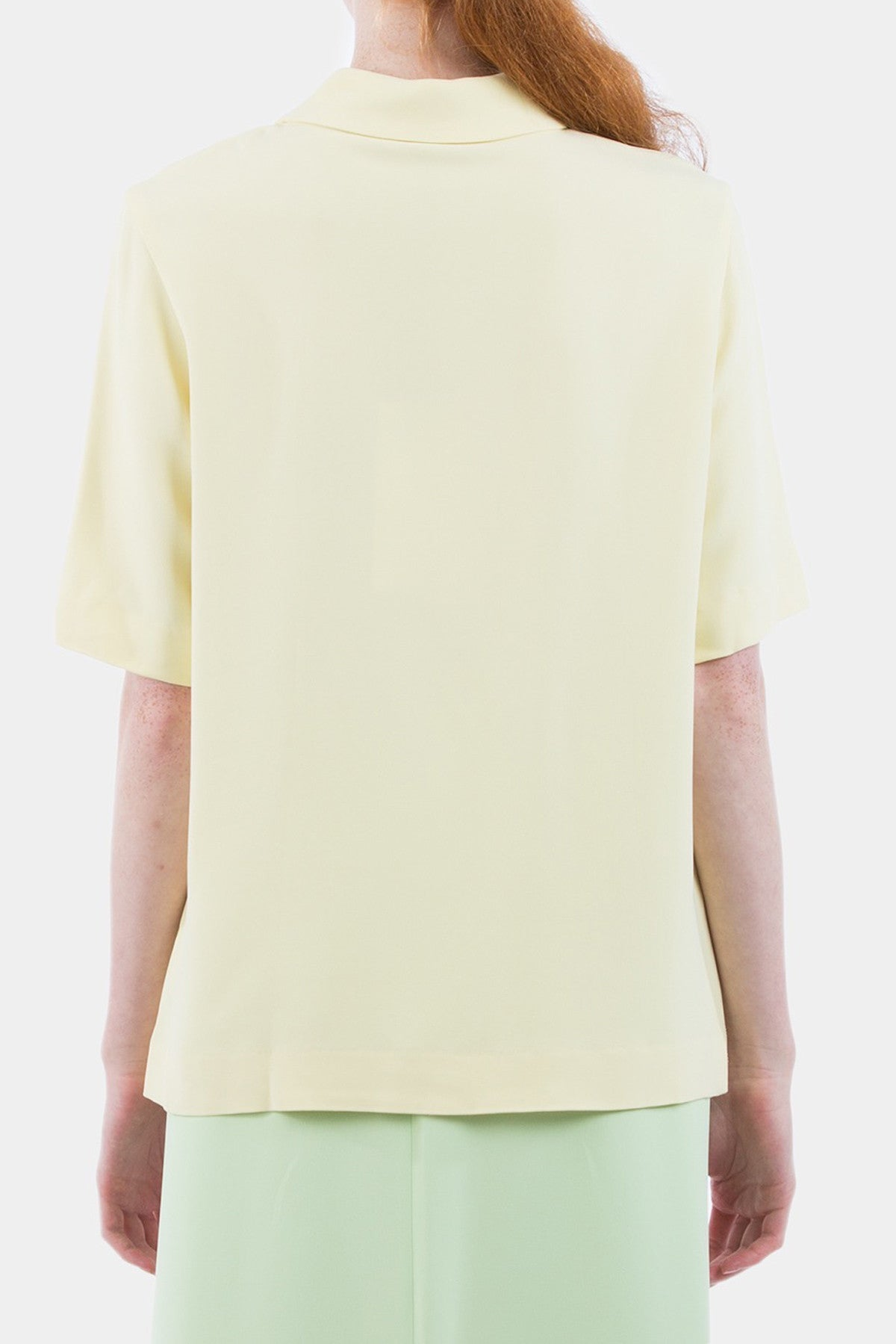 Cut Polo Shirt Crepe