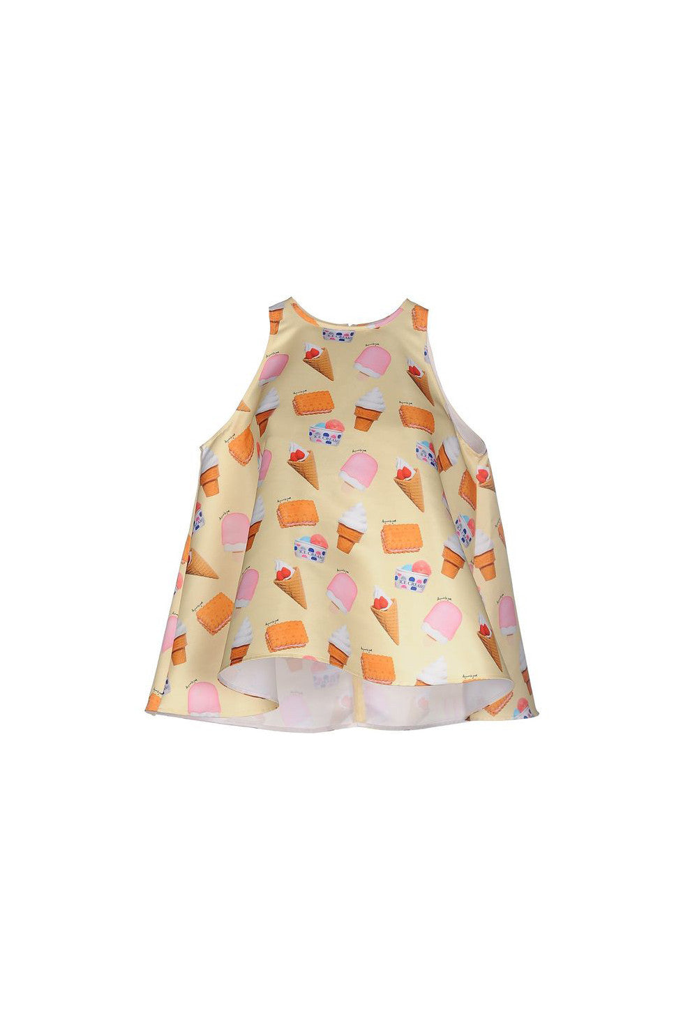 Frill Top Printed Duchesse (Micro Ice Cream)