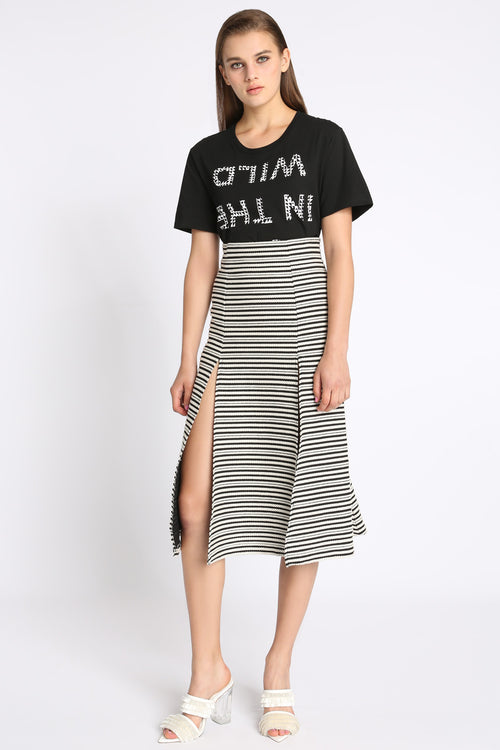 Im Back For More Double Slit Skirt