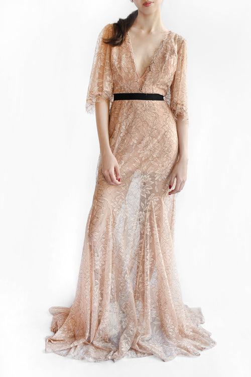 Look Good Sheer Lace Gown