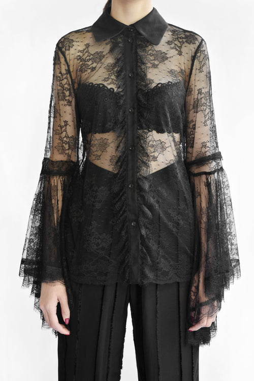 Octavia Sheer Long Sleeved Top