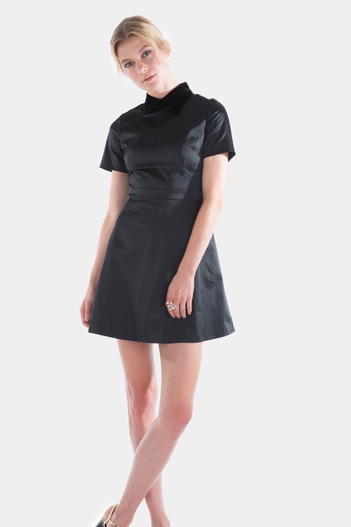 Mini Fit And Flare Structured Dress