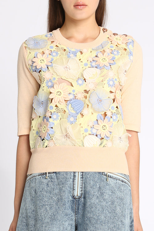 Spring Garden Pastel Sweater Top
